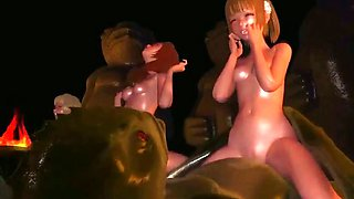 Animated babes fucked by alen cocks