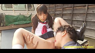 Jav Idol Abe Mikako Fucks On The Back Of Mini Van Truck Outdoors Wearing School Uniform Excellent Scene