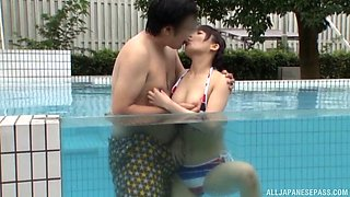 One of the most beautiful Asian hotties getting screwed in the pool