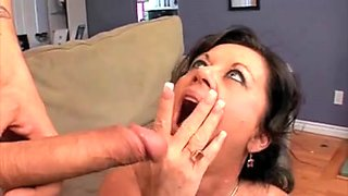 Mature wife enjoying cumshots in different sex scenes