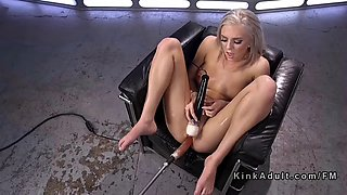 blonde fucking machine and squirting