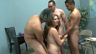 Hottest pornstar Alex Chance in best gangbang, brazilian adult video