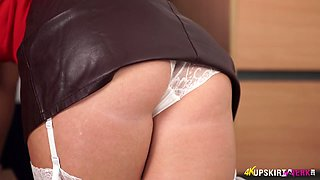 Kinky all alone bitch Kylie K and her awesome upskirt solo show