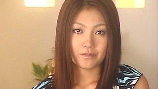 Crazy Japanese model Aki Anzai in Amazing Facial, Cougar JAV movie