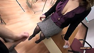 mature teacher motivational footjob