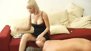 Bent over sub guy toyed up the asshole by mistress