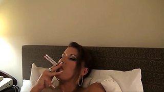 Smoking slut - homemade