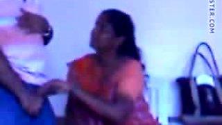 Indian maid doing blowjob