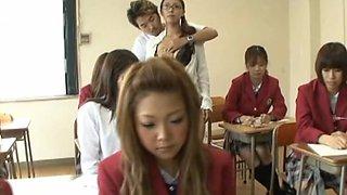 Pretty Japanese schoolgirls get some hot sex action