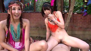 Exotic Japanese girls Ayaka Tomoda, Hitomi Kitagawa, Kotomi Asakura in Incredible JAV censored Creampie, Small Tits clip