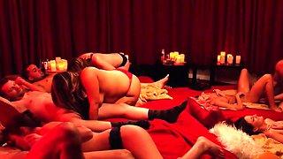 Swinger party has full swap group sex