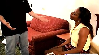 Naughty black chick Shantehj gets punished with spanking