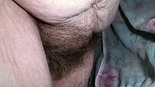 Russian granny wife with saggy boobs and hairy twat