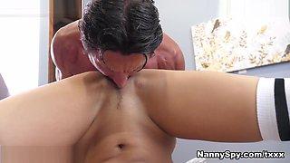 Uma Jolie in Husband and Wife Punish Their Thieving Nanny - NannySpy