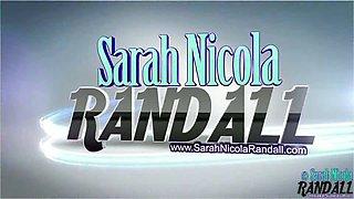 Sarah Randall takes a delicious milk bath