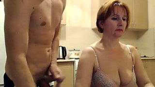 Redhead Mature Seducing Young Guy