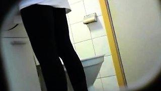 Brunette amateur teen toilet pussy ass hidden spy voyeur 1