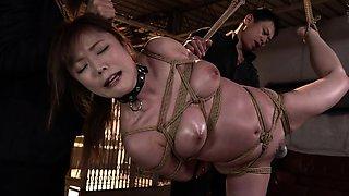 Kinky Asian wife enjoys the pleasures of extreme bondage