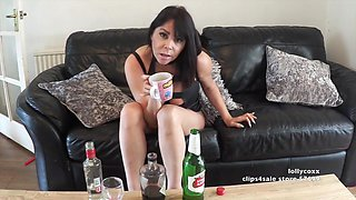 Drunk Wife Roleplay - She Gets Wasted