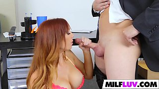 Nerdy As###tant Takes His Boss MILF