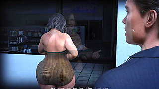 CURVY COUGARS STREET - HORNY CLERK ON THE BACK  SHOP (pt.9)