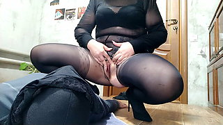 Goddess gives golden nectar and dirty panties to her slave
