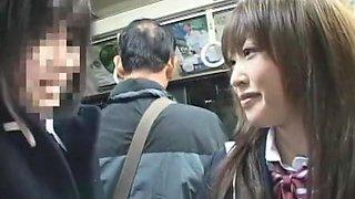 Horny Japanese slut Anna Mutsumi, Mizuki Akiyama, Hina Umehara in Best Public JAV video