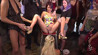 Public slave sienna day gets pissed and fisted brutally