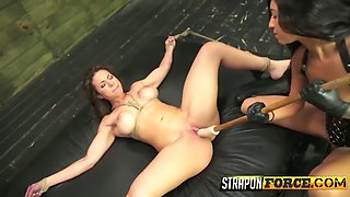 her clit pumped, pussy fisted and fucked