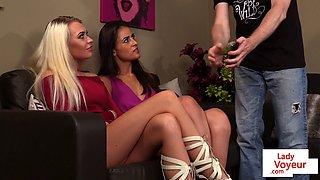British voyeurs instructing and watching sub
