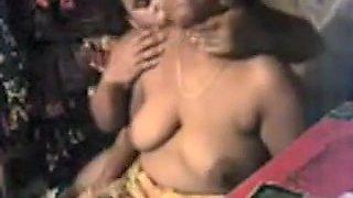 Desi Auntie Boob Press And Nipple Sucking