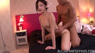 A new Japanese bride gets the fuck of her life on her wedding night