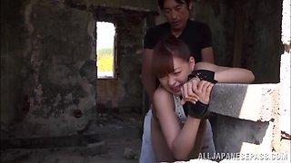 Yukiko Suo lovely Asian teen enjoys a creamed pussy