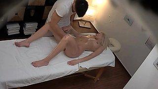 Hot Blonde GF Cheating on Massage