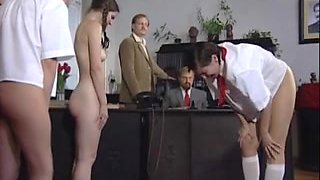 Czech minxes got punished with an ass-whipping