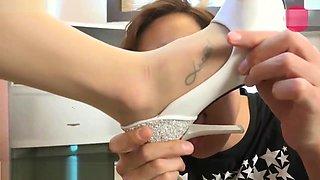 Korean goddess domination Slave licking her feet