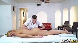 naughty masseur has dirty thoughts in mind