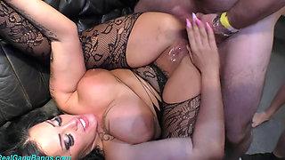 Hot Amateur Slut Ashley Cumstar IR Anal DP Gangbang Double Penetration