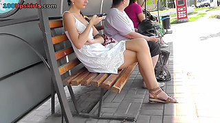 Girl caught on spy camera in the free upskirt video