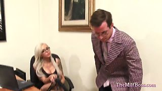 Blonde Boss Fucked in the Office