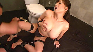 Kinky whore is on her knees sucking cock