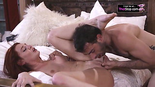 Redhead MILF Get Her Pussy Pounded By Stud
