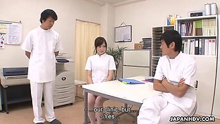 Japanese nurse is punished by being roughly fucked and cream