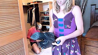 Kinky amateur crossdresser getting tied up and punished