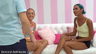 Horny Studs Have Super Hot Group Sex With Stepmom And Stepsisters!