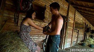 Smoking hot sex at the haystack