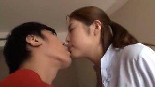 Exotic Japanese whore Mika Osaki, Minami Kijima, Chisato Ayukawa in Amazing Cunnilingus, Fingering JAV scene