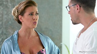Cute Cherie Deville gets talked into masturbating with a friend