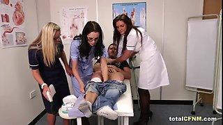 patient gets sucked by hot cfnm nurses