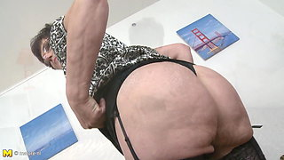 Mature mother becomes slut for young son